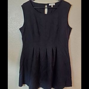 Monteau Sleeveless Black Fit and Flare Dress 1X